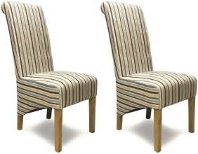 Striped Dining Chair Buy Homestyle Gb Richmond Striped Fabric Dining