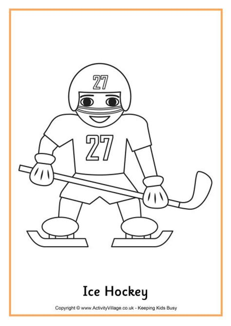college hockey coloring pages ice hockey coloring page winterolympics childcare