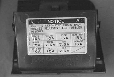 1999 Toyota Corolla Radio Fuse Toyota Camry Fuse Box Diagram Wedocable