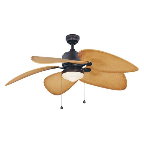 Outside Ceiling Fans With Lights Shop Harbor 52 In Freeport Aged Bronze Outdoor Ceiling Fan With Light Kit At Lowes