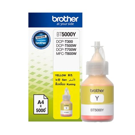 Tinta Printer Bt5000 Yellow Original tinta bt5000 cyan magenta yellow elevenia