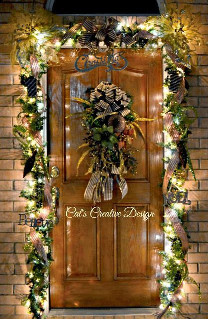 Home Decor For Christmas Holidays Door D 233 Cor At Night Cat S Holiday Amp Home Decor My Door