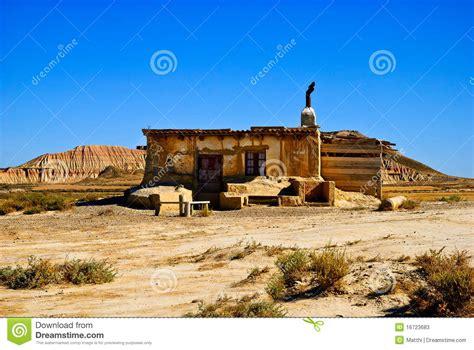 Desert House Plans cottage bardenas reales navarra spain stock photos