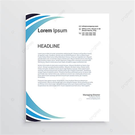 letterhead template vector printing design business