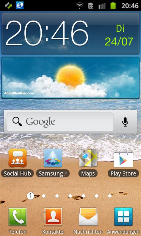 samsung galaxy ace 2 how to delete the home screen