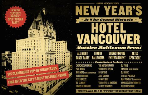 new year event vancouver 2015 new year s takes hotel vancouver