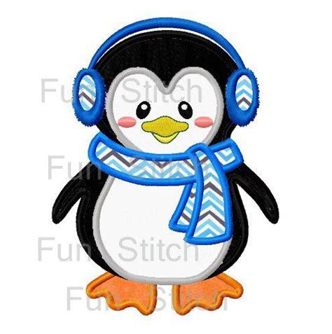 penguin applique penguin applique machine embroidery design