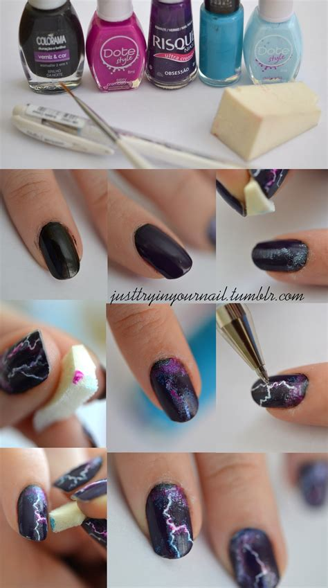 lightning nail art tutorial 15 ultra easy nail tutorials for every woman to try