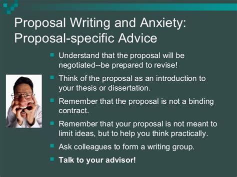 thesis advisor ask writing proposal