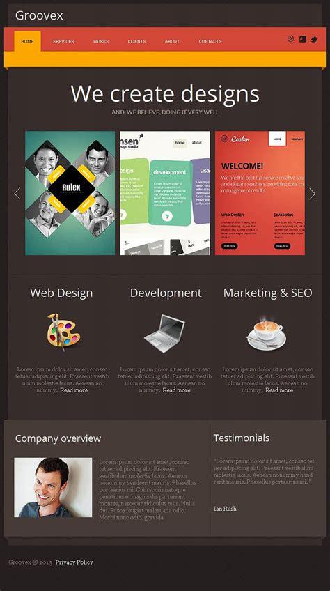 design studio facebook html cms template 47045