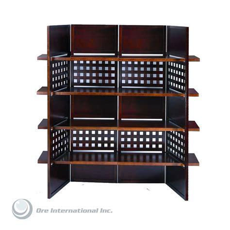 Home Decorators Collection 4 9 Ft Walnut 4 Panel Room Room Divider Home Depot