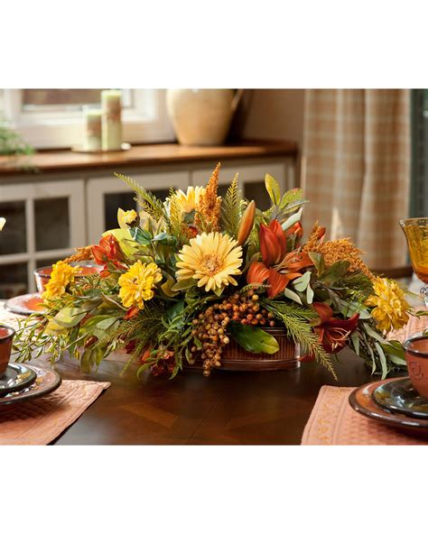 lifelike and low profile zinnia gerbera lily silk