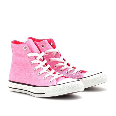 Convers Higt converse chuck all high top sneakers in pink lyst
