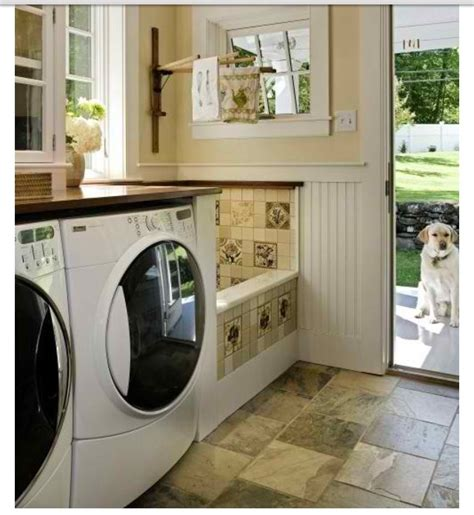 laundry in bathtub dog bath in laundry room for the home pinterest