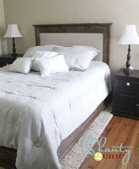 padded headboard ideas diy upholstered queen headboard shanty 2 chic
