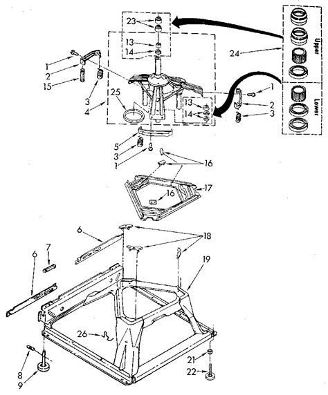 kenmore washing machine parts diagram machine base diagram parts list for model 11082870120