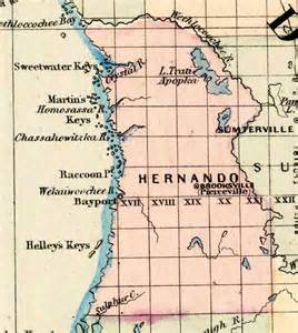 map hernando county florida map of hernando county florida 1877