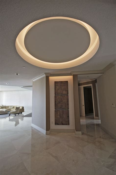 recessed circle with LED lights   Moonstone Deets