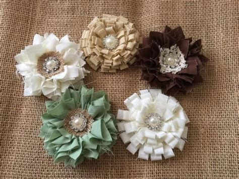 shabby chic fabric flowers pinkyjubb weddbook