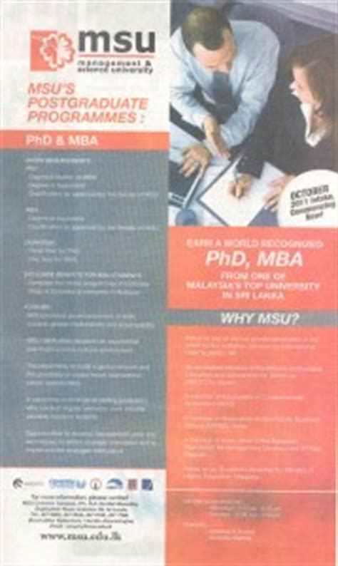 Management Science And Engineering And Mba by Mba Phd From Management Science Msu