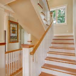 white banister white wood stairs and banisters new staircase