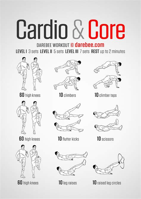 cardio darebee workout exercises cardio workouts and workout