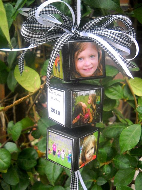 photo ornaments craft goodies day 29 photo memory block ornament