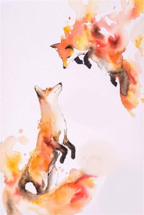 watercolor tattoo fox best 25 watercolor fox tattoos ideas on