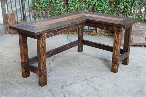 Rustic L Shaped Desk Amusing Rustic Office Desk Wow This Would Look Great In An Office Rustic L Shaped Desk From
