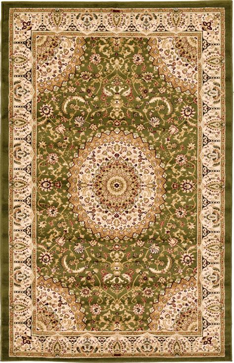asian style area rugs traditional style area rugs 5 0 x 8 0 green mashad design rug ebay
