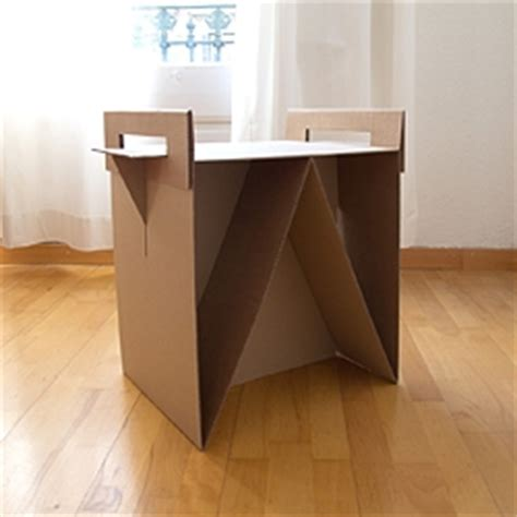 Cardboard Nightstand adrian candela s nit is a cardboard nightstand or side table that gives a second and