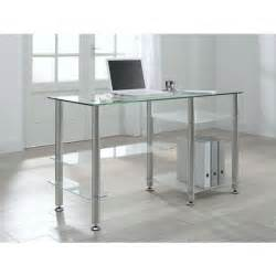 bureau design en verre transparent desk achat