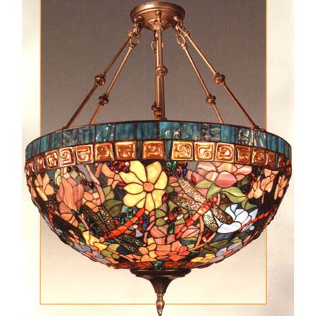 dale tiffany  tiffany dragonfly inverted hanging lamp
