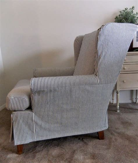 Wing Armchair Covers by 1000 Ideas About Ticking Stripe On Armchairs