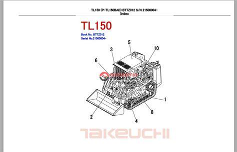 takeuchi track loader tl parts manual auto repair