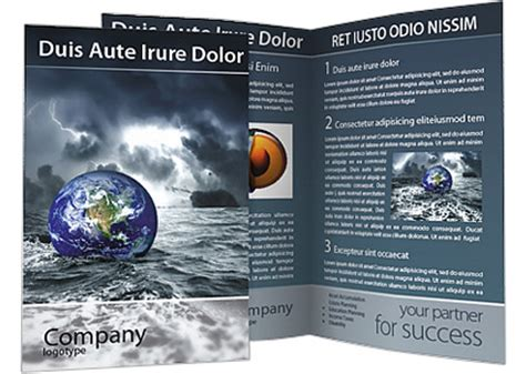 great deluge brochure template design id 0000001488