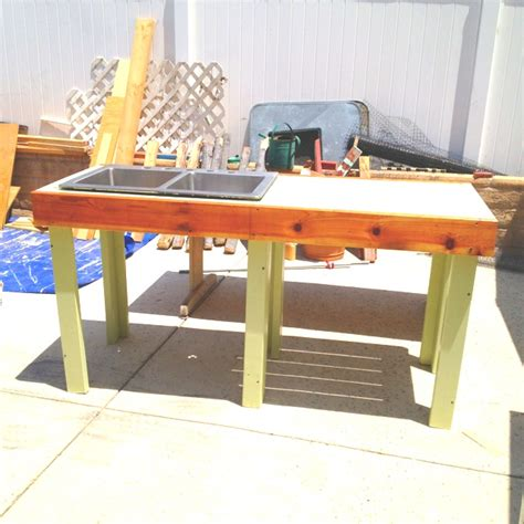 garden work bench with sink 17 best images about basin blues outdoor garden sink