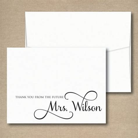 wedding shower thank you notes bridal shower thank you notes thank you from the future