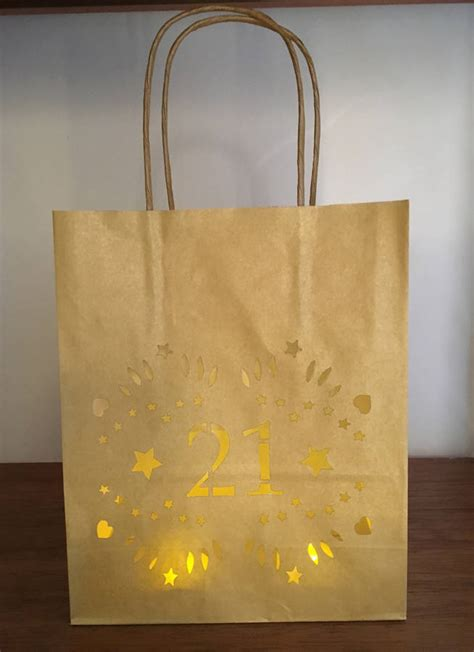 21st birthday luminaria bags by baloolah bunting