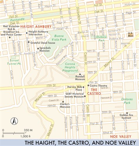san francisco map noe valley map of the haight the castro and noe valley the haight