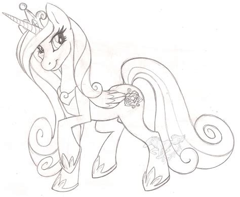 Princess Cadence Sketch By Stangwolf On Deviantart Mlp Princess Cadence Wedding Printable