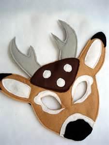 children s deer felt mask by magicalattic on etsy