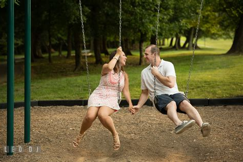 swinging couple blog leesburg virginia engagement photo session lynsey brad