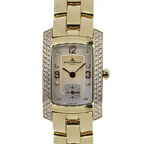 baume et mercier hton milleis 18k yellow gold