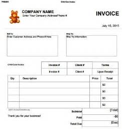 Child Care Invoice Template by 27 Day Care Invoice Template Collection Demplates
