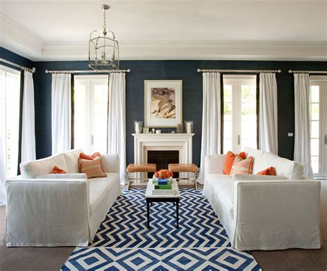 living room decorating with blue and orange navy and wife life navy orange