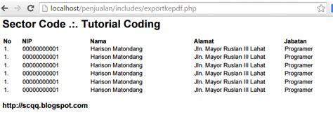 tutorial html2pdf php tutorial php cara export html ke pdf dengan php sector