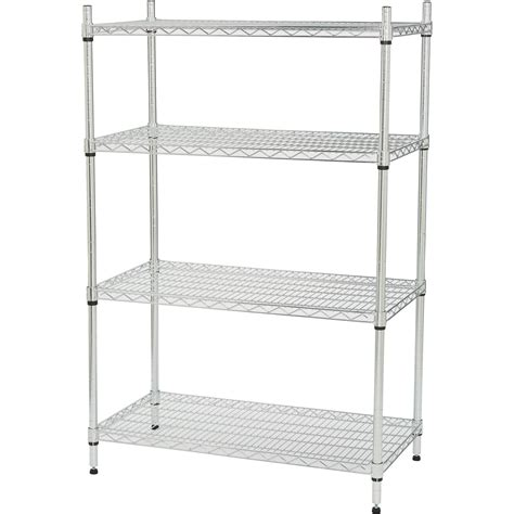 strongway heavy duty wire shelving system 4 shelves 800