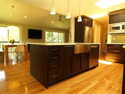 open kitchen plans with island open floor plan with large center island transitional kitchen new york by kraftmaster