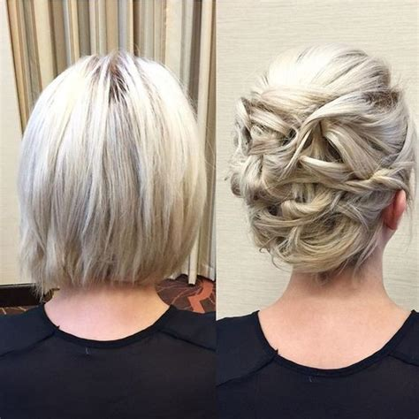 evening hairstyles bob hair 20 gorgeous prom hairstyle designs for short hair prom